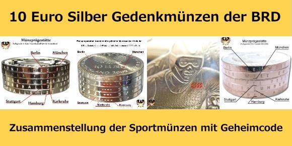 10 euro münzen deutschland übersicht