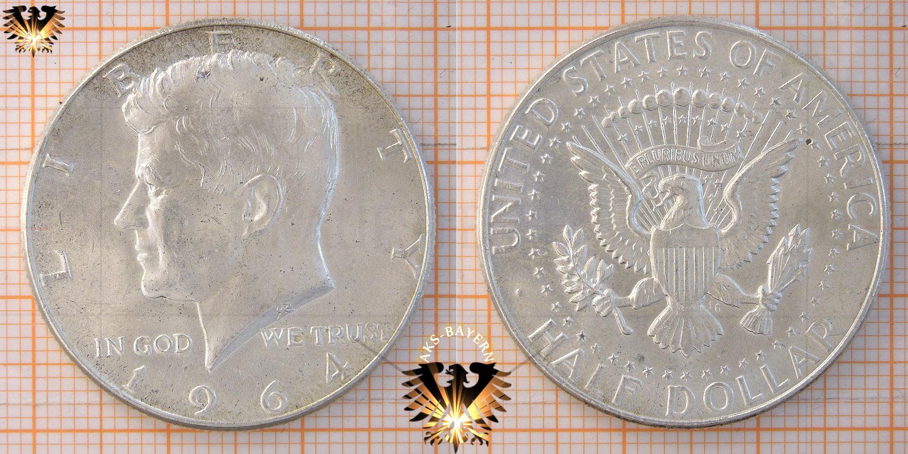 Half Dollar Usa 1964 Kennedy Half Dollar Münze