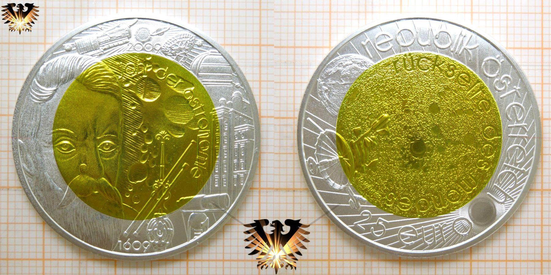 25 Euro Jahr Der Astronomie Silber Münze Mit Niob österreich