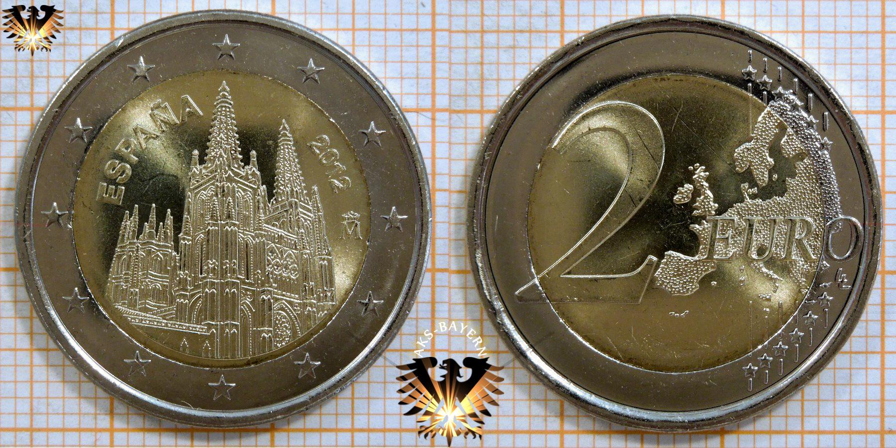 2 Euro Spanien 2012 Nominal Sammlermünzen