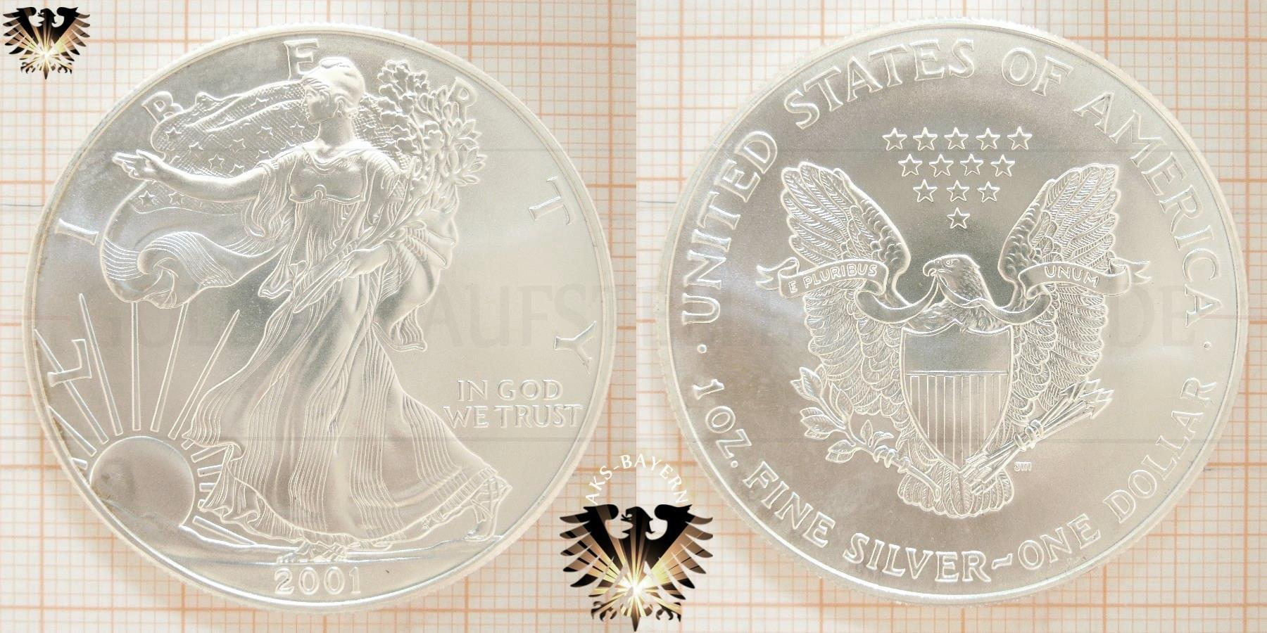 One Dollar Liberty Silver Eagle Usa Y2k Bullionm 252 Nzen