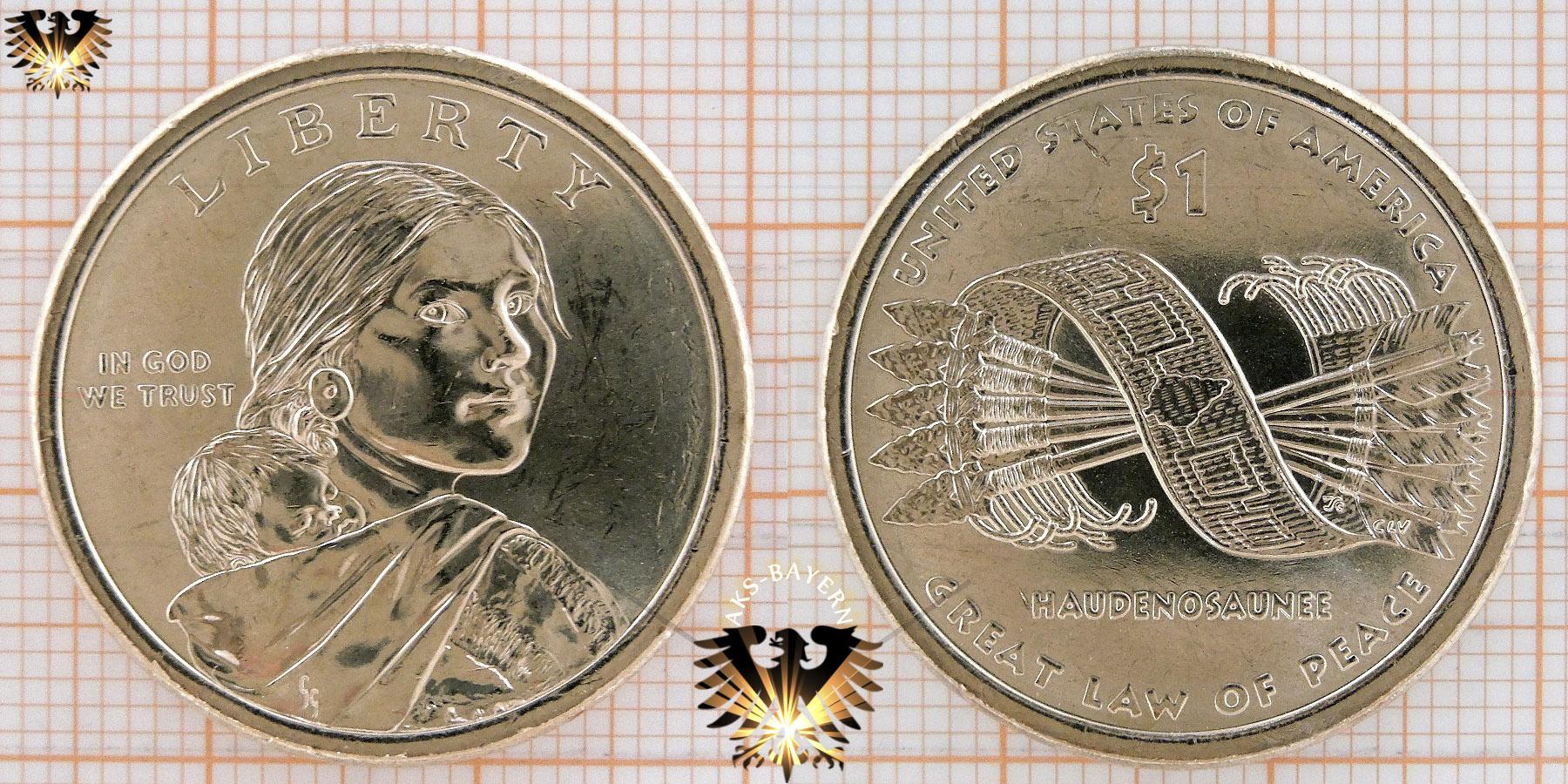 1 Dollar Usa 2010 D Native American Dollar Hiawatha Belt