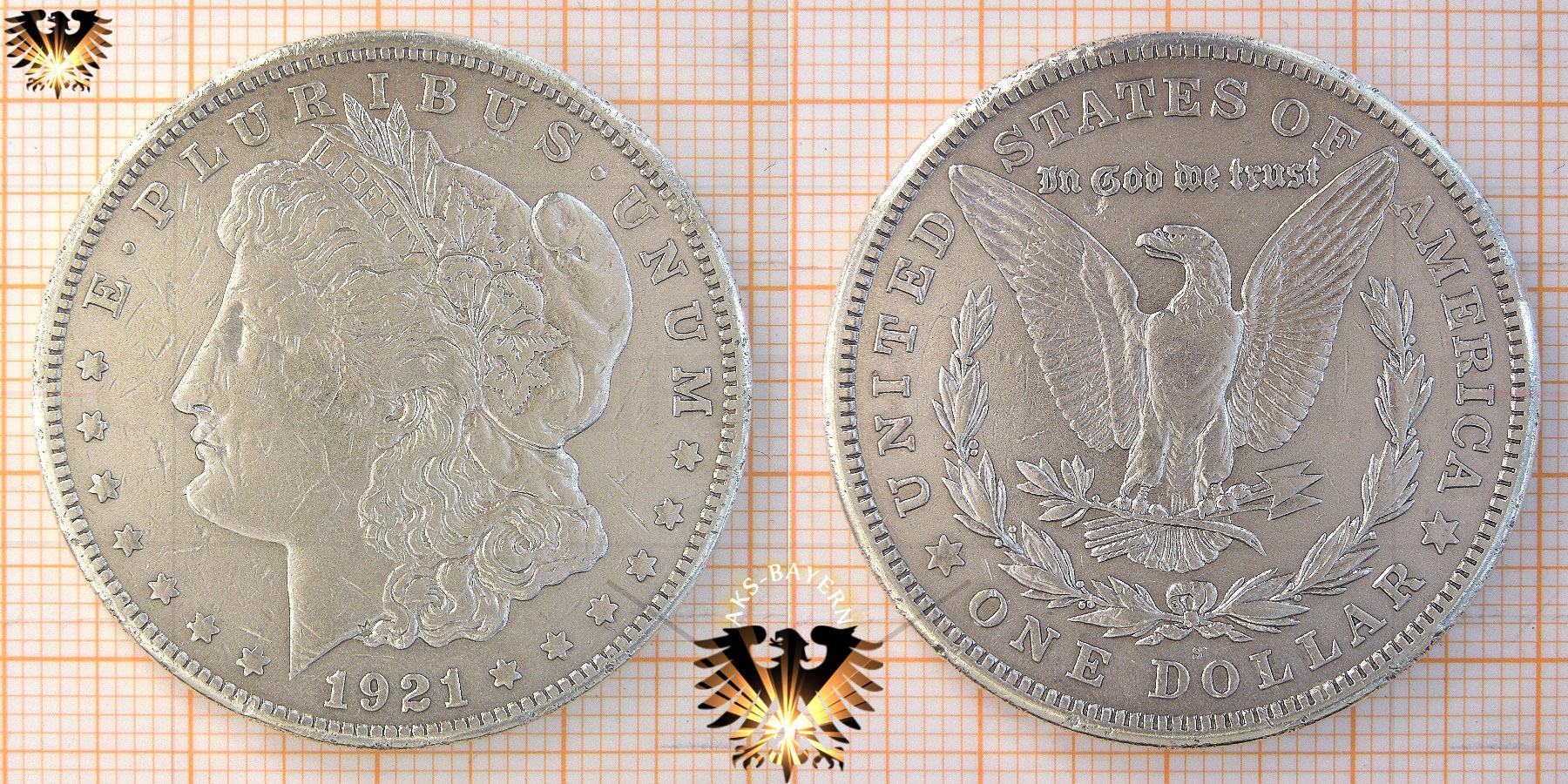 1 Dollar Usa 1921 Morgan Dollar 1878 1921