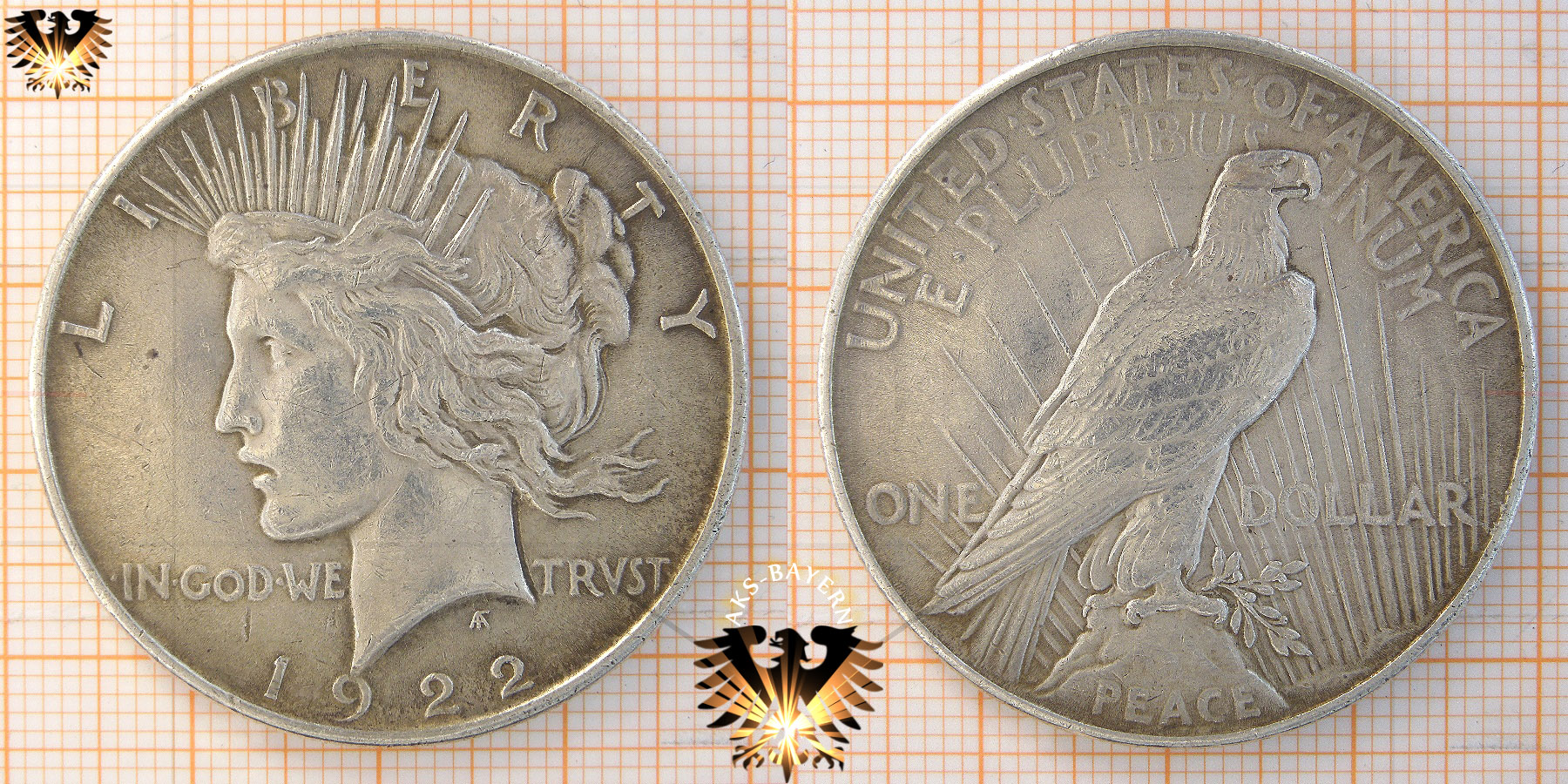 1 Dollar Usa 1921 Peace Dollar 1921 1935 Silber
