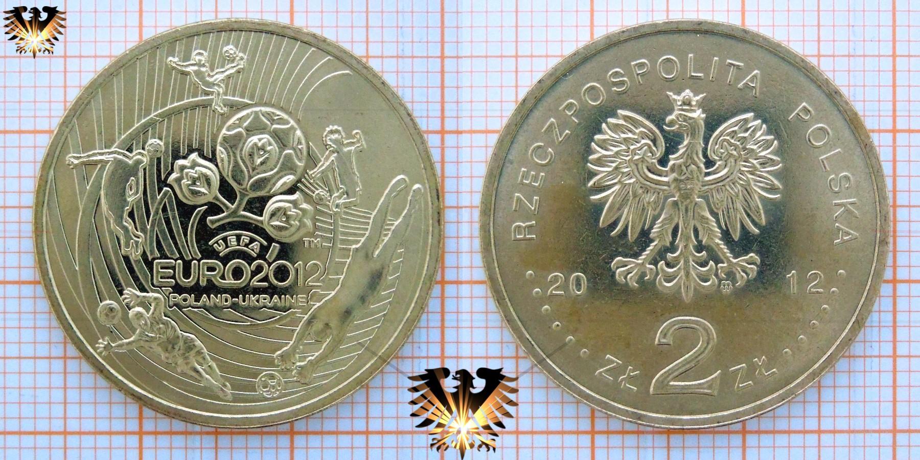 2 Zloty 2012 Uefa Euro 2012 Poland Ukraine Rzeczpospolita Polska