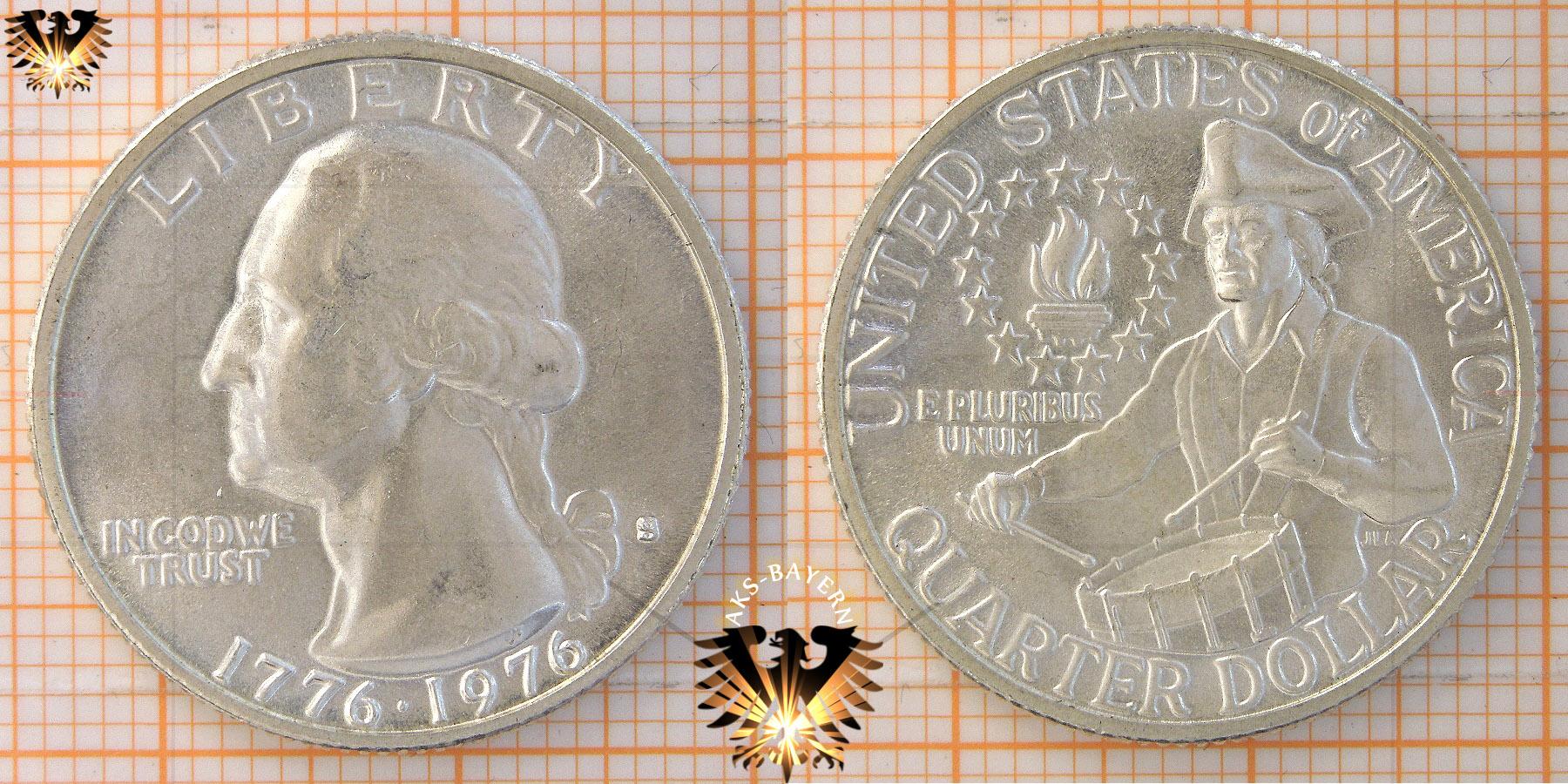 25 Cents 1 Quarter Dollar Usa 1976 Drummer Boy