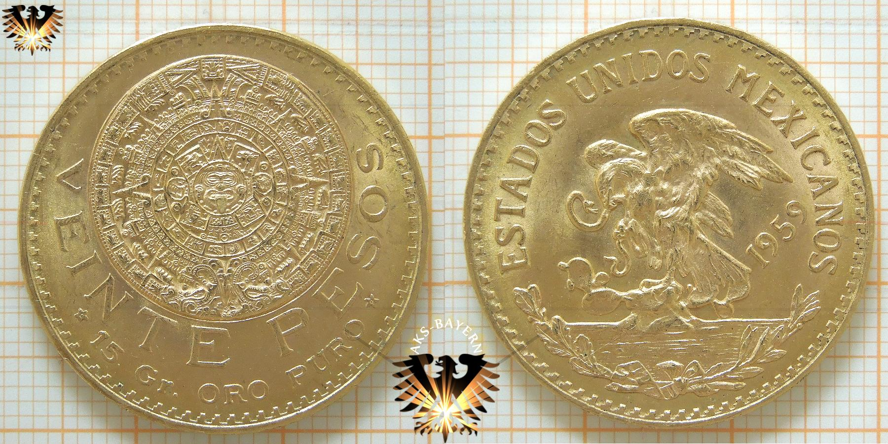 Goldmünze aus Mexiko- 20 Pesos in Gold | Hier Einkaufen ...