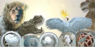 Die Tiere sind los - Tiermünzen @  Vorschaubild