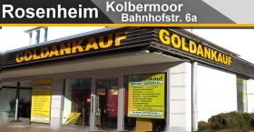 Goldankauf / Silberankauf / Schmuckankauf / Münzankauf LK Rosenheim, Kolbermoor bei Rosenheim, Bahnhofstraße 6A